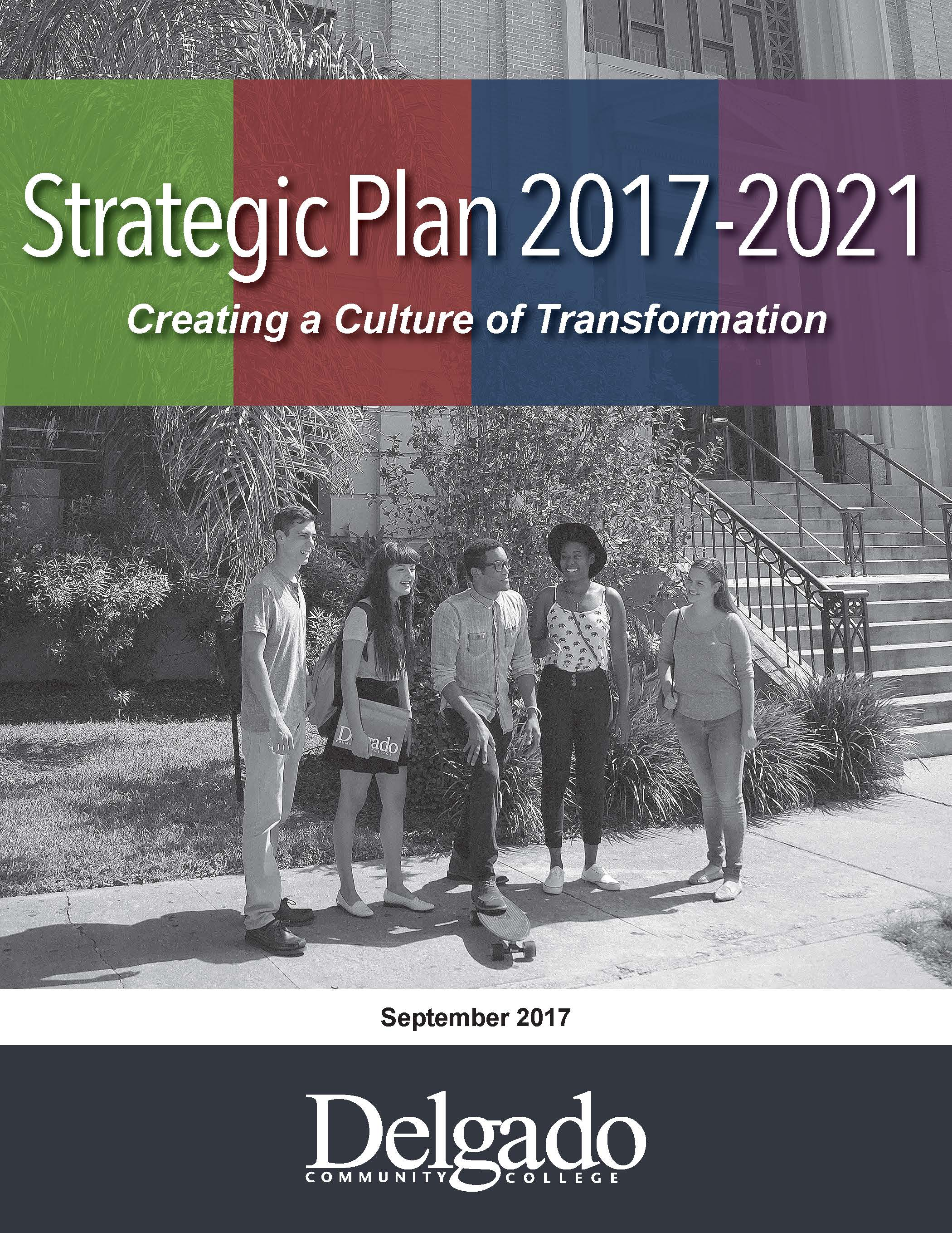 Cover of the 2017-2021 Strategic Plan document